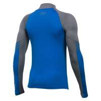 Dětské tričko Under Armour ARMOUR Up ColdGear Mock Modro/šedé