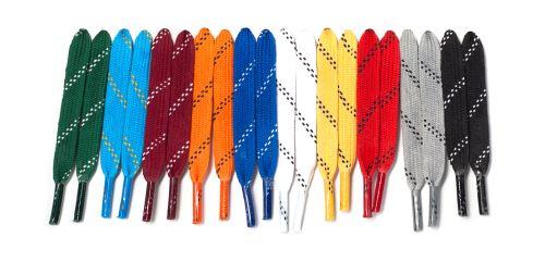 Šnúrky do hokejových korčúľ voskované, dĺžka 270 cm