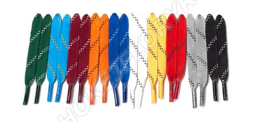 Tkaničky do hokejových bruslí voskované, délka 270 cm
