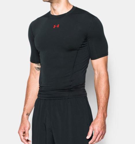 Pánské kompresní triko Under Armour HeatGear SUPERVENT Černo/červené S