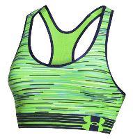 Sportovní podprsenka Under Armour HeatGear Alpha Printed Signální zelená