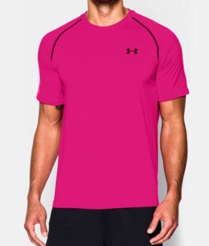 Pánske tričko Under Armour Tech tm.ružová XS