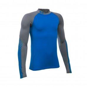 Dětské tričko Under Armour ARMOUR Up ColdGear Mock Modro/šedé XS