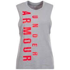 Dámske tričko Under Armour Exploded Wordmark Muscle 100 S