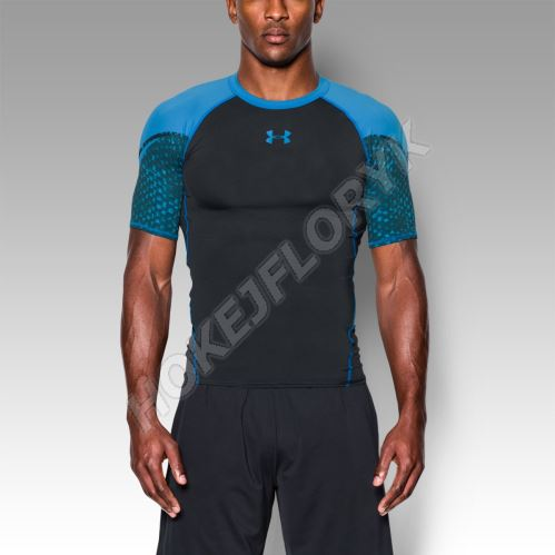 Pánske kompresné tričko Under Armour HeatGear ARMOUR SCOPE Čierno / modré S
