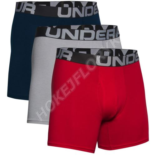 Pánské boxerky Under Armour Charged Cotton 6in 3 Pack 600 L