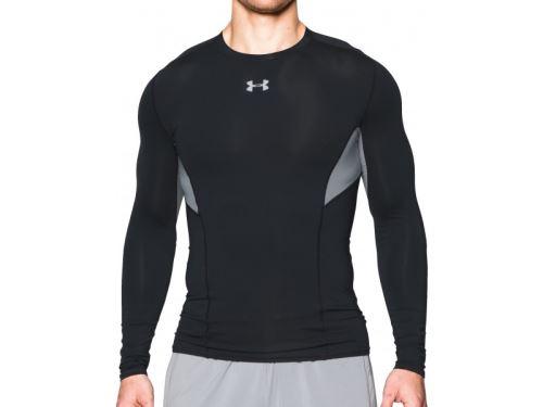 Pánske kompresné tričko Under Armour HeatGear Coolswitch dlhý rukáv Čierne