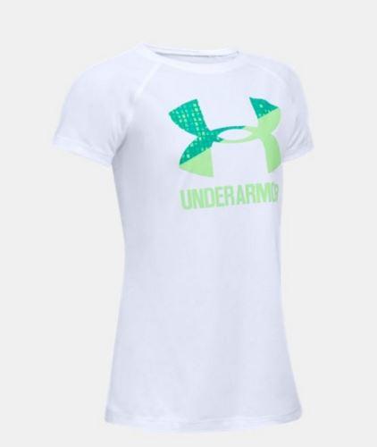 Detské tričko Under Armour Solid Big Logo Biele YXS - XS