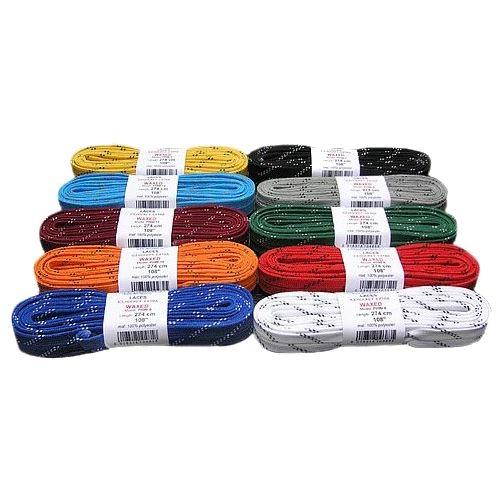 Tkaničky do hokejových bruslí voskované, délka 244 cm