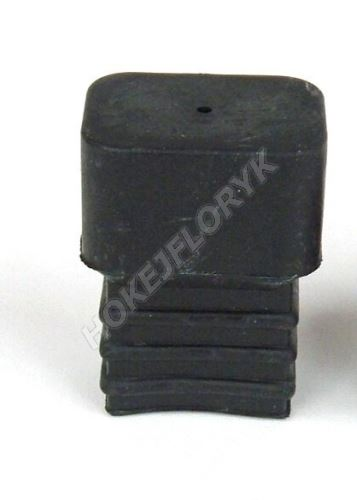 Koncovka na hokejku gumová hranatá